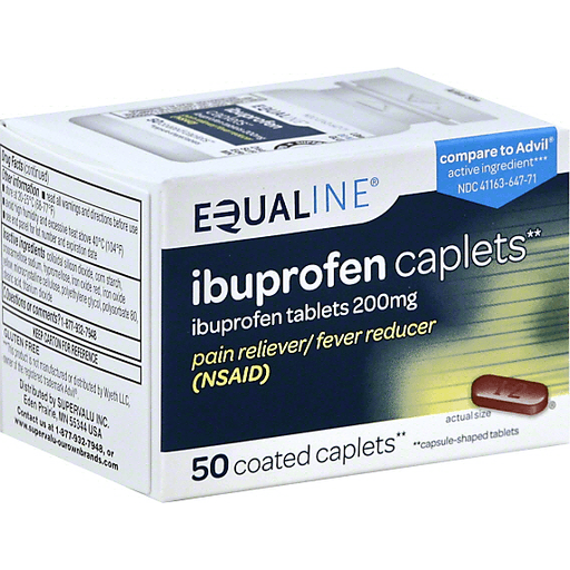 Equaline Ibuprofen, 200 mg, Coated Caplets