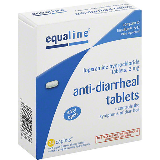Equaline Anti-Diarrheal, 2 mg, Caplets