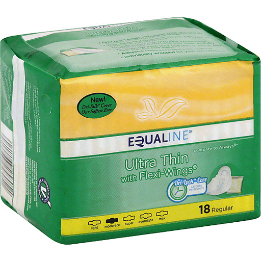 Equaline Pads, Ultra Thin, with Flexi-Wings, Regular