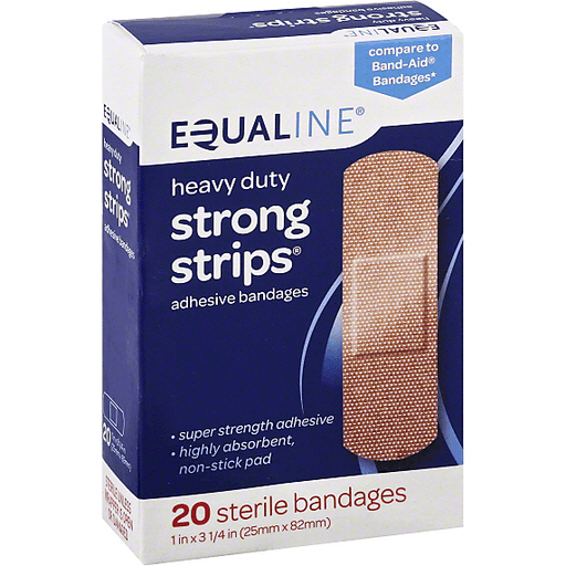 Equaline Bandages, Adhesive, Strong Strips, Heavy Duty