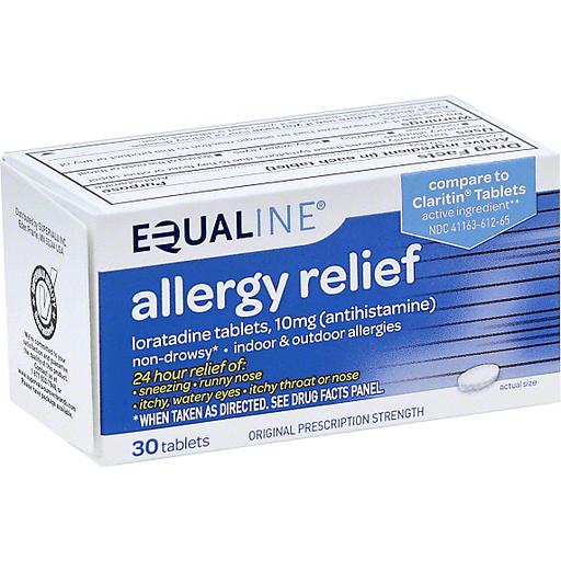 Equaline Allergy Relief, 10 mg, Original Prescription Strength, Tablets