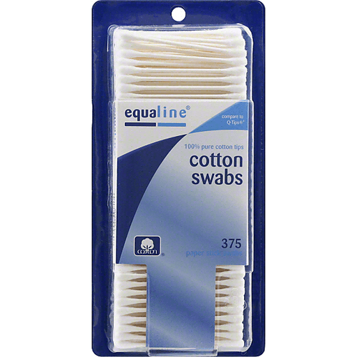 Equaline Cotton Swabs, Paper Stick