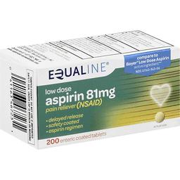Equaline Aspirin Low Dose 81 mg Enteric Coated Tablets