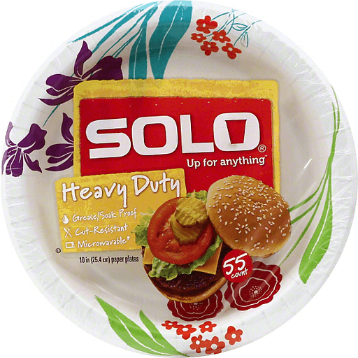 Solo Paper Plates, Any Day, 10 Inch