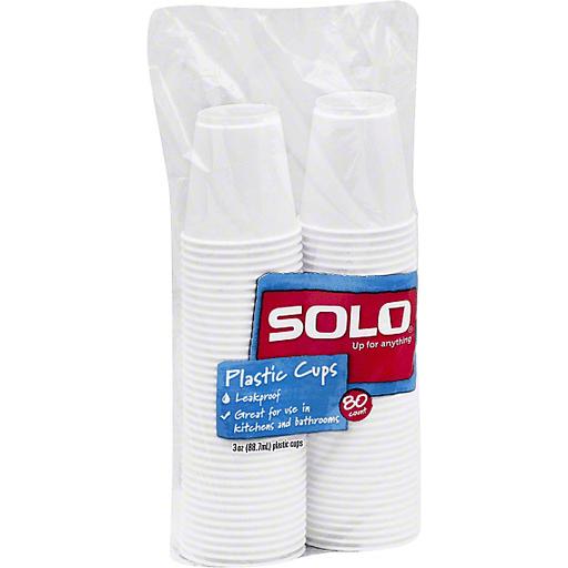 Solo Plastic Cups, 3 oz