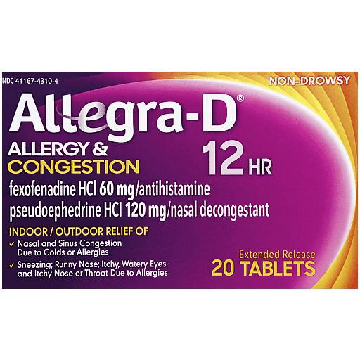 Allegra-D 12 Hr Allergy Decongestant