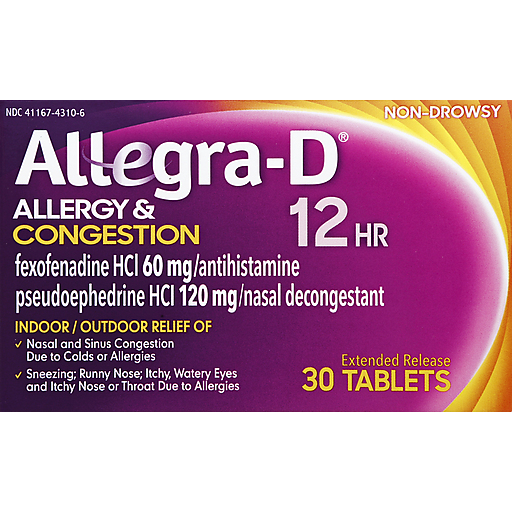 Allegra D 12 Hr Allergy & Congestion