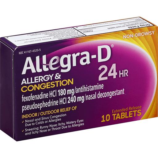 Allegra-D 24 Hr Allergy Decongestant