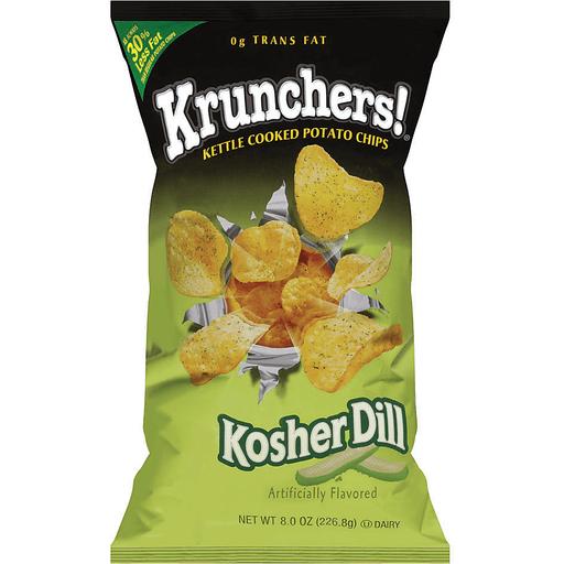 Krunchers!® Kettle Cooked Potato Chips Kosher Dill 8 oz.