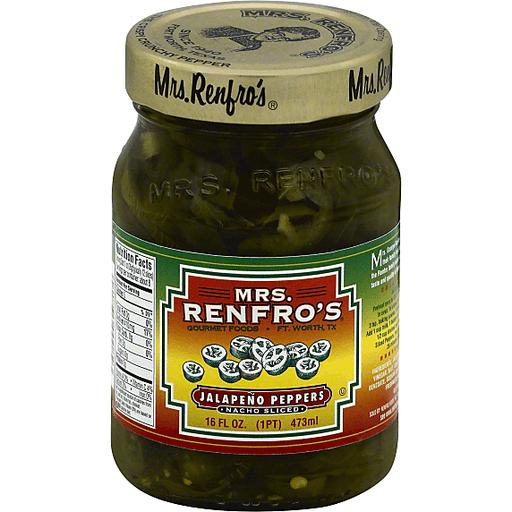 Mrs Renfros Jalapeno Peppers, Nacho Sliced
