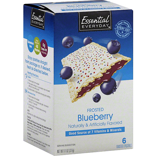 Essential Everyday Toaster Pastries, Frosted Blueberry
