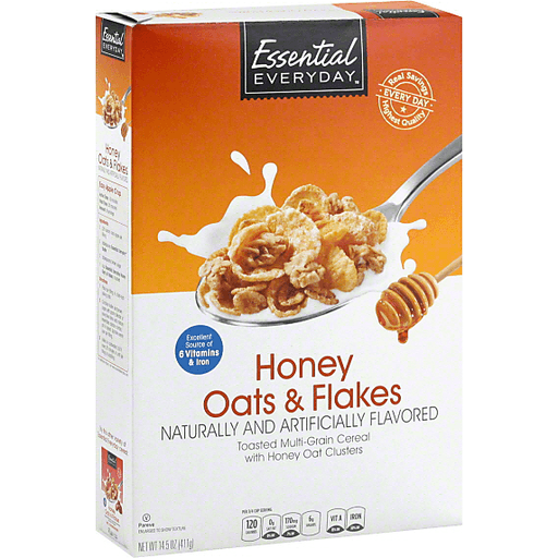 Essential Everyday Cereal, Honey & Oat Clusters