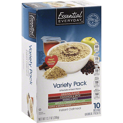 Essential Everyday Oatmeal, Instant, Variety Pack