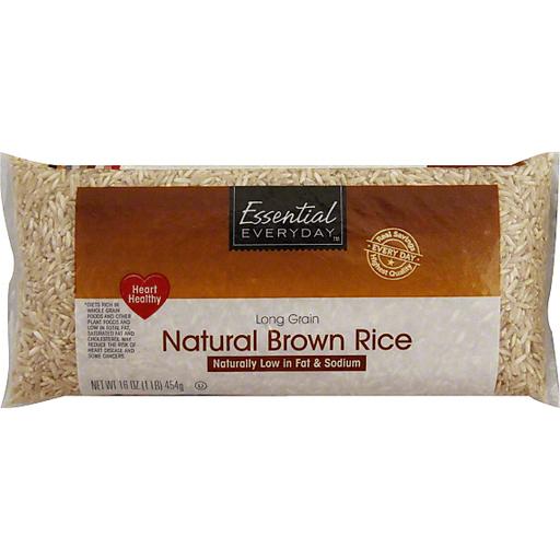 Essential Everyday Brown Rice, Natural, Long Grain