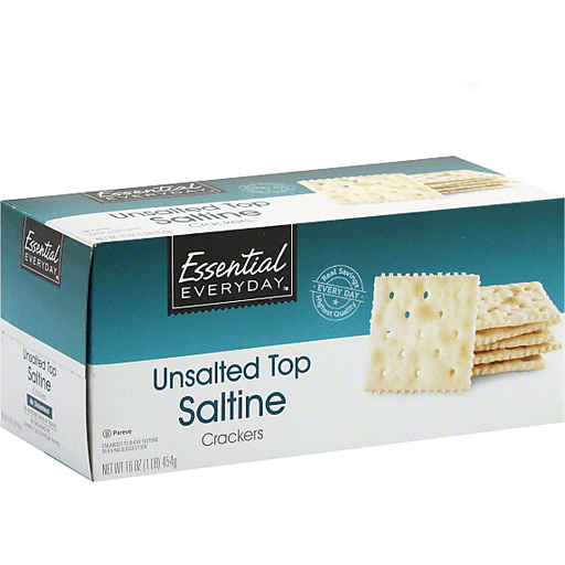 Essential Everyday Crackers, Saltine, Unsalted Top