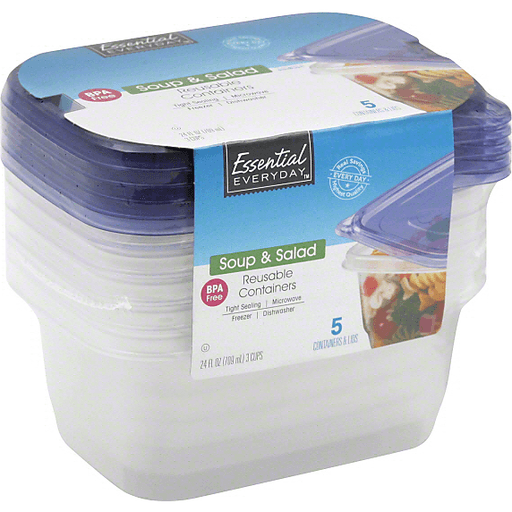 Essential Everyday Reusable Containers, Soup & Salad