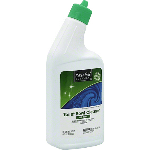 Essential Everyday Toilet Bowl Cleaner, with Bleach, Fresh Scent
