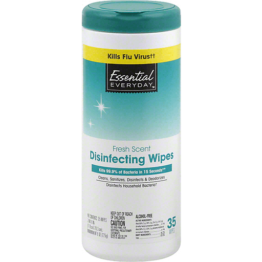 Essential Everyday Disinfecting Wipes, Fresh Scent