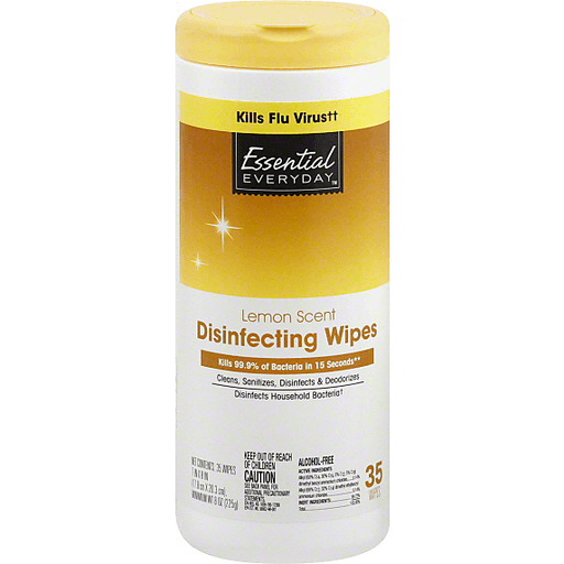 Essential Everyday Disinfecting Wipes, Lemon Scent