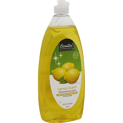 Essential Everyday Dishwashing Liquid, Ultra Concentrated, Lemon Scent