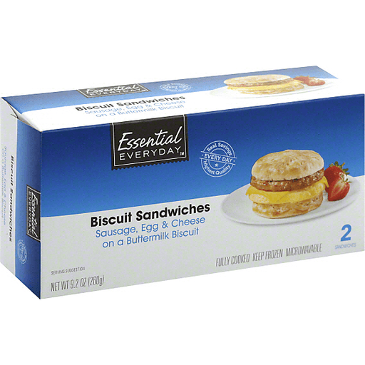 Essential Everyday Biscuit Sandwiches, Sausage, Egg & Cheese on a Buttermilk Biscuit