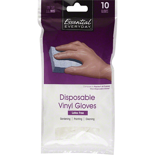 Essential Everyday Vinyl Gloves, Latex Free, Disposable, One Size Fits Most