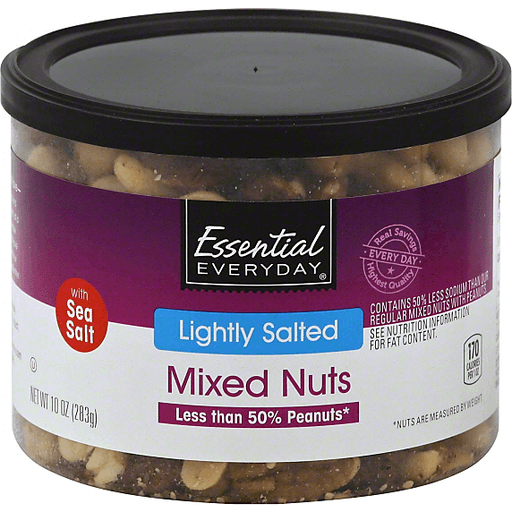 Essential Everyday Mixed Nuts, Lightly Salted, with Sea Salt