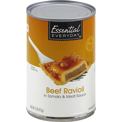 Essential Everyday Ravioli, Beef, in Tomato & Meat Sauce