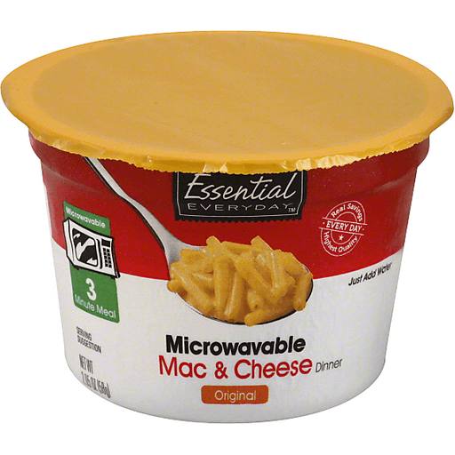 Essential Everyday Mac & Cheese Dinner, Microwavable, Original