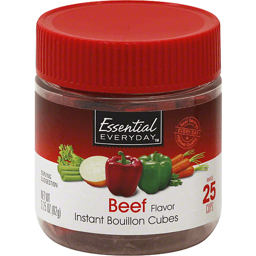 Essential Everyday Bouillon Cubes, Instant, Beef
