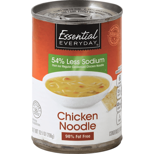 Essential Everyday Soup, Condensed, Chicken Noodle, Less Sodium