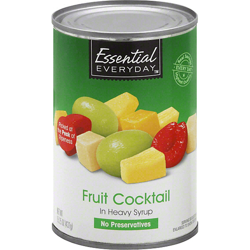 Essential Everyday Fruit Cocktail, In Heavy Syrup