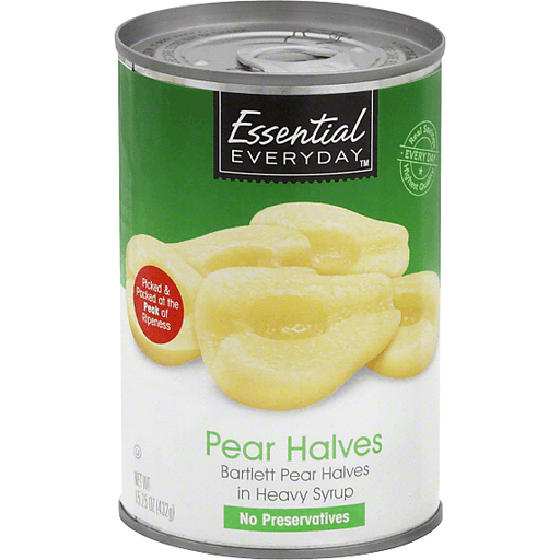 Essential Everyday Pear Halves, In Heavy Syrup