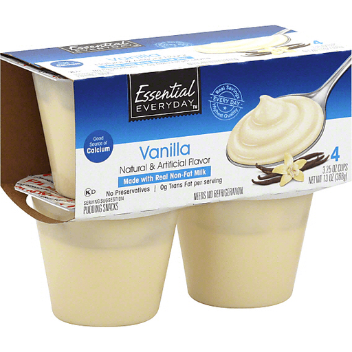 Essential Everyday Pudding Snacks, Vanilla