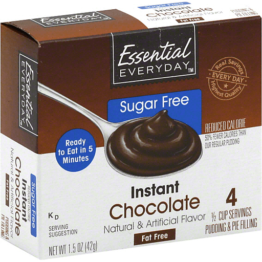 Essential Everyday Pudding & Pie Filling, Sugar Free, Instant Chocolate