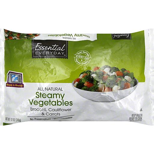 Essential Everyday Steamy Vegetables, Broccoli, Cauliflower & Carrots