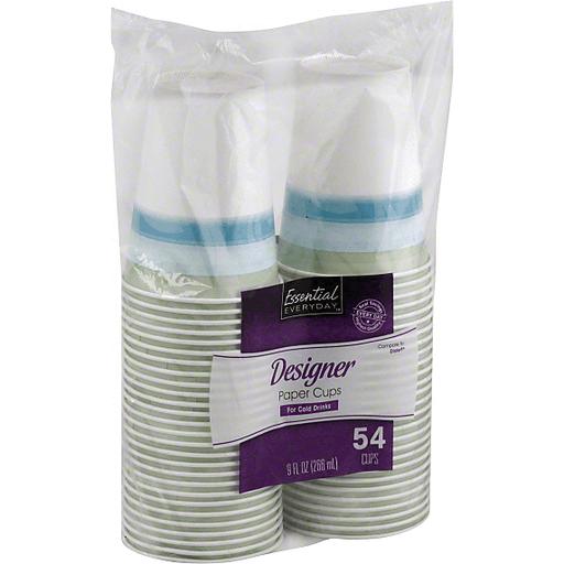 Essential Everyday Paper Cups, Designer, 9 fl oz