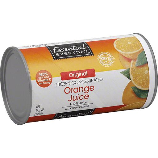 Essential Everyday 100% Juice, Frozen Concentrated, Orange, Original