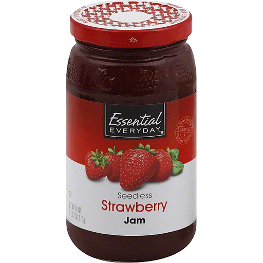 Essential Everyday Jam, Seedless, Strawberry