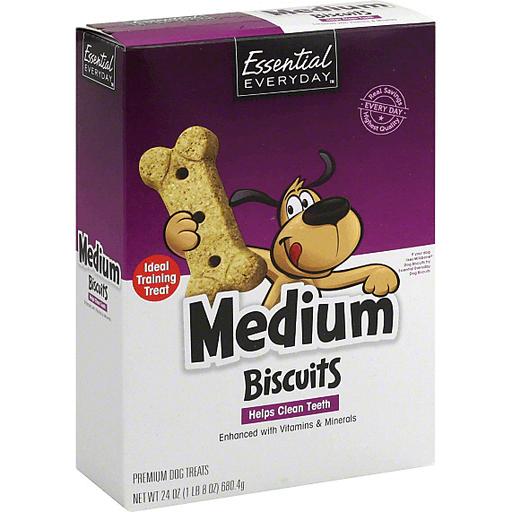 Essential Everyday Dog Treats, Premium, Biscuits, Medium