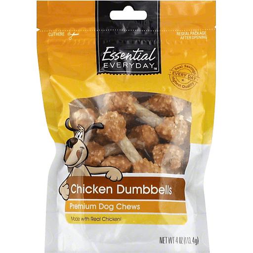 Essential Everyday Dog Snack, Chicken Flavored Dumbbells