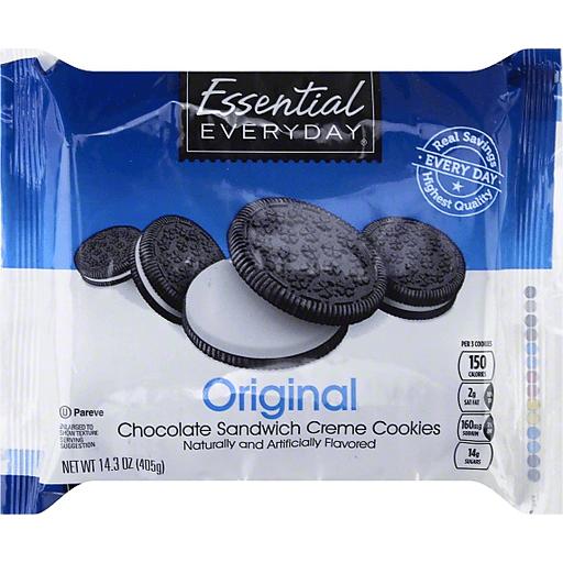 Essential Everyday Cookies, Sandwich Creme, Chocolate, Original