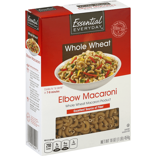 Essential Everyday Elbow Macaroni, Whole Wheat