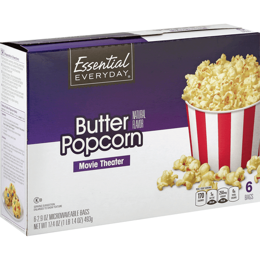 Essential Everyday Popcorn, Butter, Movie Theater