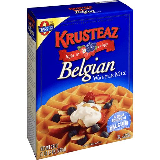 Krusteaz Waffle Mix Light & Crispy Belgian