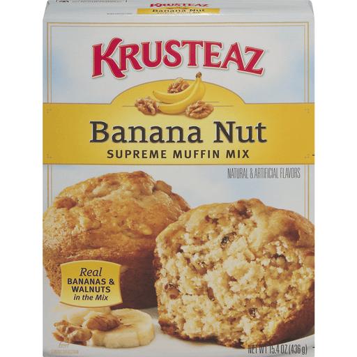 Krusteaz Muffin Mix, Supreme, Banana Nut