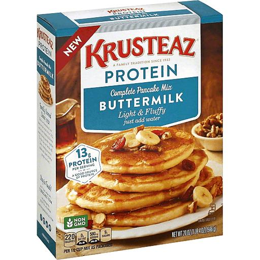 Krusteaz Pancake Mix Protein Buttermilk Pancake Mixes Syrup