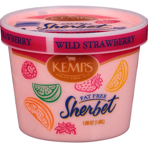 Kemps® Wild Strawberry Fat Free Sherbet 1.69 qt. Tub