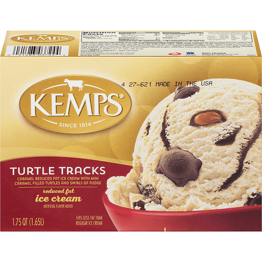 Kemps® Turtle Tracks Reduced Fat Ice Cream 1.75 qt. Carton