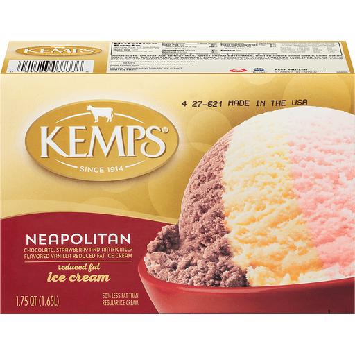 Kemps® Neapolitan Reduced Fat Ice Cream 1.75 qt. Carton